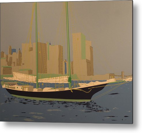 Metal Print featuring the painting Two Masts by Biagio Civale