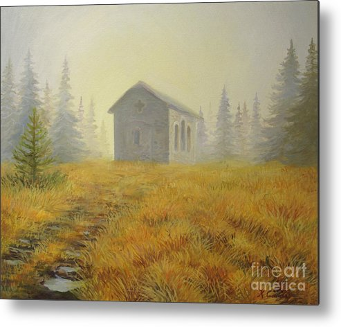 Art Metal Print featuring the painting A Touch Of Faith by Kiril Stanchev