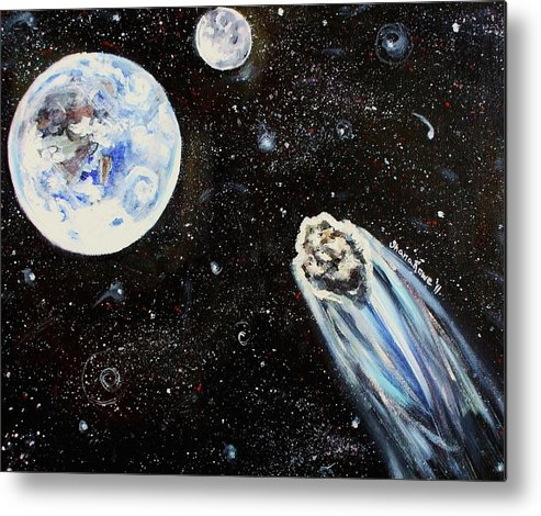 Space Metal Print featuring the painting Make A Wish by Shana Rowe Jackson