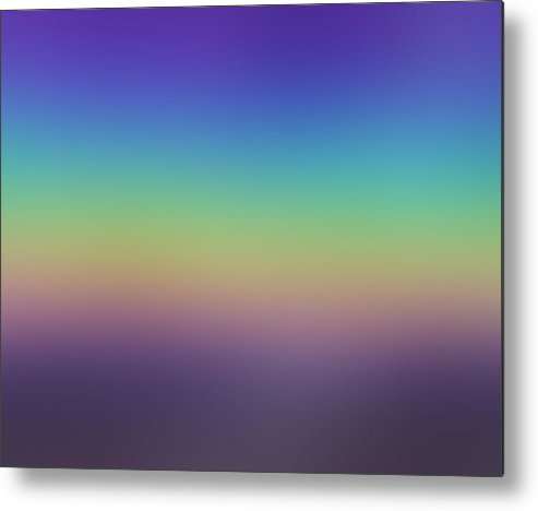 Evening.colors.silince.rest.sky.sea.clean Sky.violet.blue.yellow.rose.darkness. Metal Print featuring the digital art Evening by Dr Loifer Vladimir