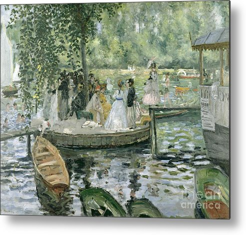 Grenouillere Metal Print featuring the painting La Grenouillere by Pierre Auguste Renoir