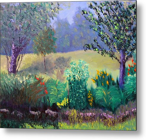 Landscape Metal Print featuring the painting Sewp 6 23 by Stan Hamilton