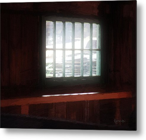 Window Metal Print featuring the painting A Dark And Fearsome Place by RC DeWinter