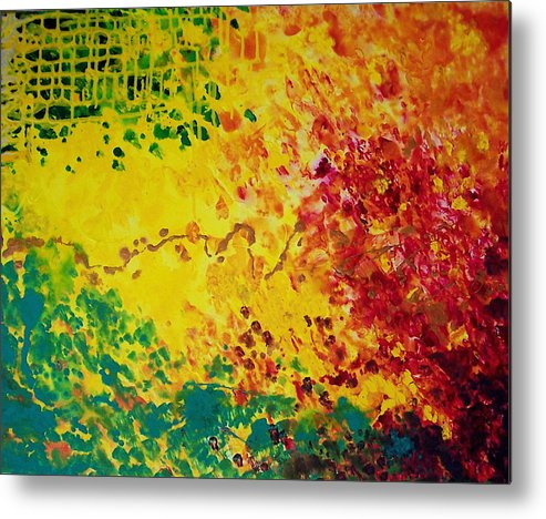 Abstract Metal Print featuring the painting Cassandra by Jess Thorsen