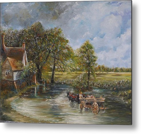 Landscape Metal Print featuring the painting Coming Home by Wendy Chua