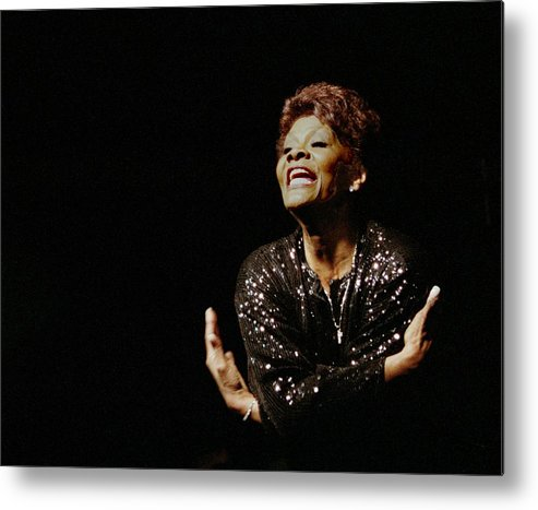 Dionne Warwick Metal Print featuring the photograph Dionne Warwick by Bob Guthridge