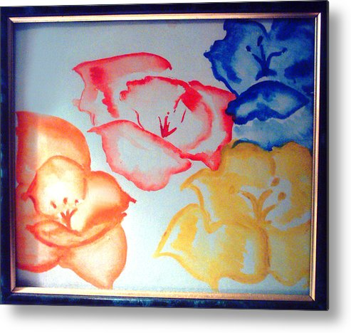 Dutch Roses Metal Print featuring the painting Dutch Roses by Ava Thayer