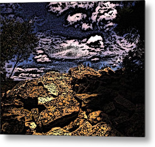 Landscape Metal Print featuring the photograph Hawk Mountain Pennsylvania by Peter Muzyka