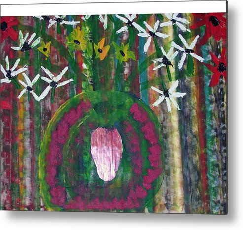 Figerative Metal Print featuring the painting Kings Flowers by Russell Simmons