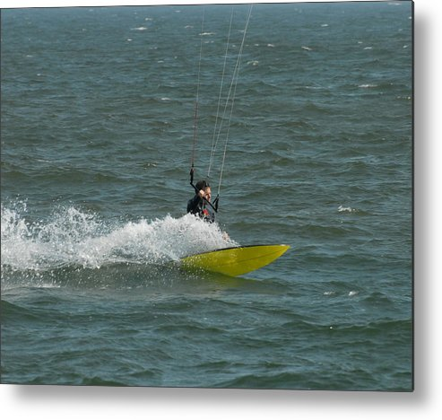 Kite Surfing Metal Print featuring the photograph Kite Surfing 18 by Joyce StJames