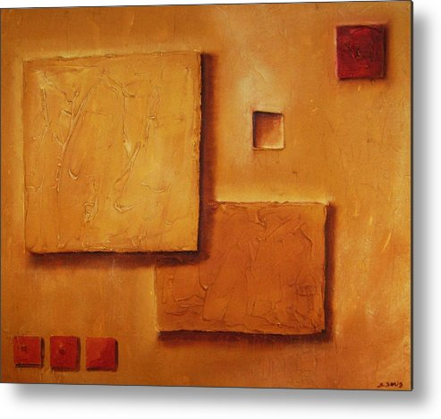 Contemporary Metal Print featuring the painting Meditation No. 5 by Marco Solis