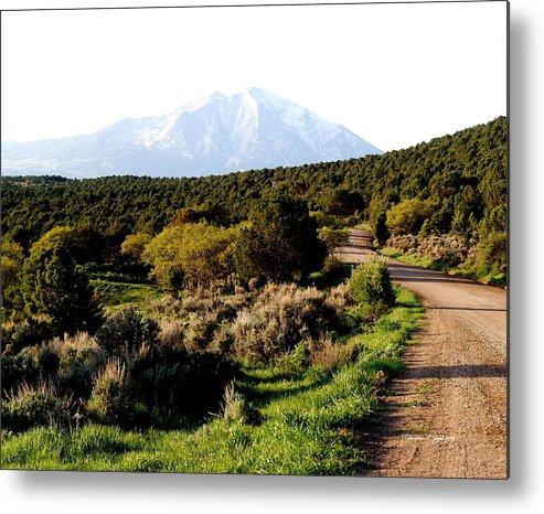 Nature Metal Print featuring the photograph Mt. Sopris - A Colorado Landscape by Christine S Zipps