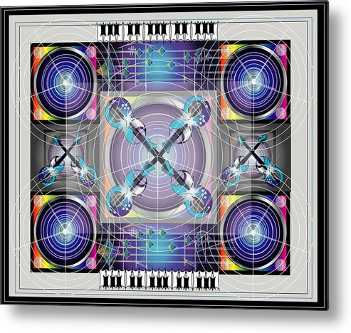 Metal Print featuring the digital art Sound by George Pasini