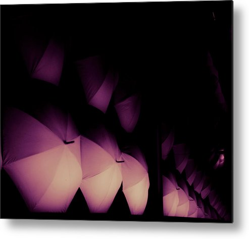 Umbrella Metal Print featuring the photograph Umbrellas Iv by Grebo Gray