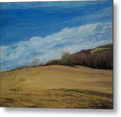 Landscape Metal Print featuring the painting Shakertown 2 by Karen Thompson