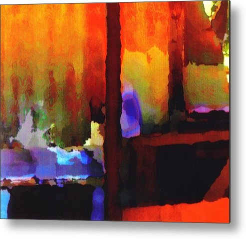 Metal Print featuring the digital art abstract from Clothesline by Danielle Stephenson