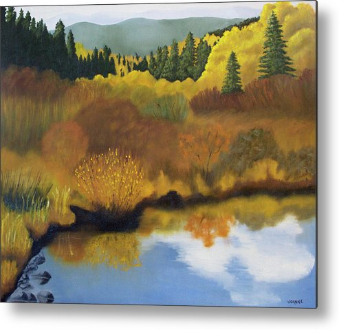 Landscape Metal Print featuring the painting Bragg Creek by Joanne Giesbrecht