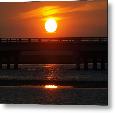 Sunset Metal Print featuring the photograph Chincoteague Island Bay by Kim