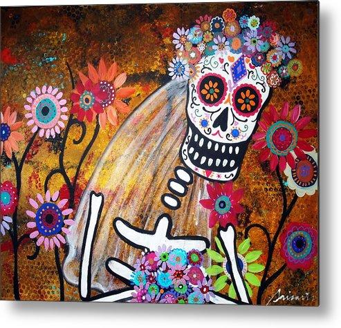 Dia Metal Print featuring the painting Desposada by Pristine Cartera Turkus
