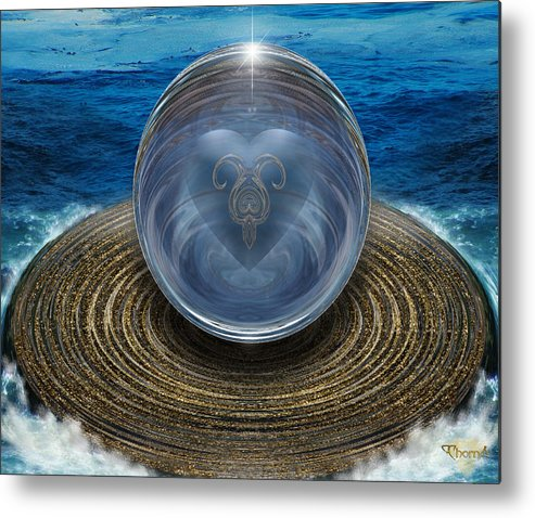 Digital Art Metal Print featuring the digital art Heart Of The Sea by Greg Piszko