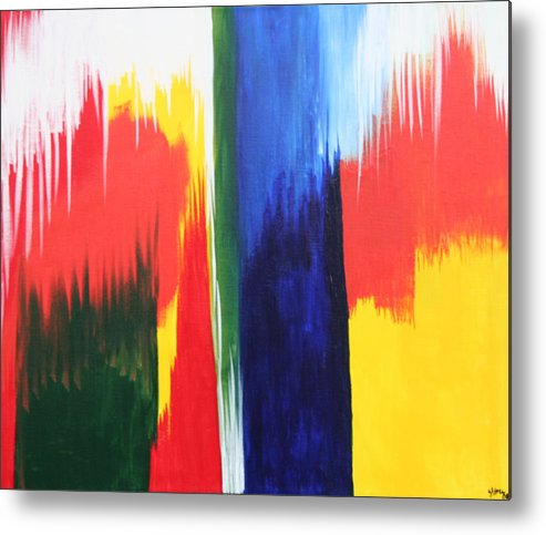 Primary Colors Metal Print featuring the painting Primary Colors by Shiree Gilmore