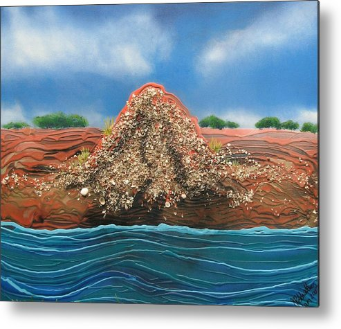Shell Mound Metal Print featuring the painting Shell Mound by Joan Stratton
