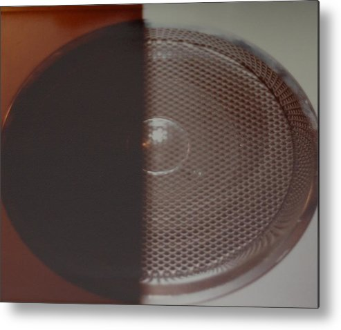 Abstract Metal Print featuring the photograph Speaker by Rob Hans
