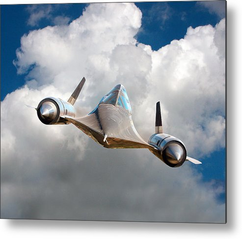 Creative Metal Print featuring the digital art Lockheed Blackbird A12 Trainer by David Murphy