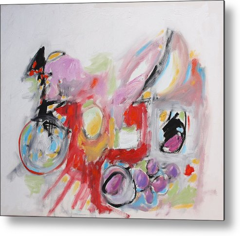 Abstract Metal Print featuring the painting Still Life With Fruit by Michael Henderson