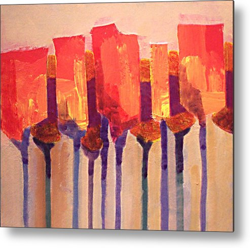 Impressionist Metal Print featuring the painting Afternoon Tulips by Dalas Klein