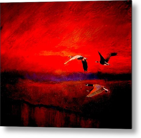 Landscape Metal Print featuring the painting Almost Home by Kent Whitaker