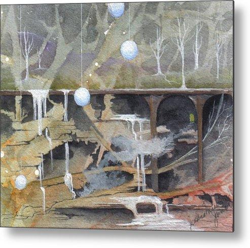Fantasy Landscape Metal Print featuring the painting Beata's Destiny by Jackie Mueller-Jones