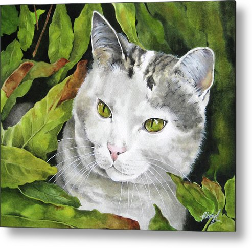 Animals Metal Print featuring the painting Did Someone Say Dr. Appointment by Cheryl Bannister