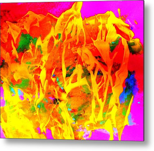 Abstract Metal Print featuring the painting First Love by Bruce Combs - REACH BEYOND