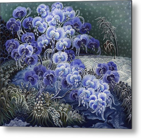Calm Metal Print featuring the painting Moment Of Calm by Olena Skytsiuk