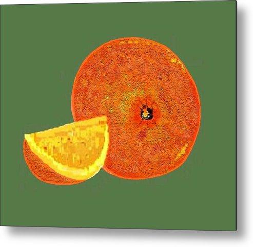 Fruit Metal Print featuring the digital art Orange by Carole Boyd