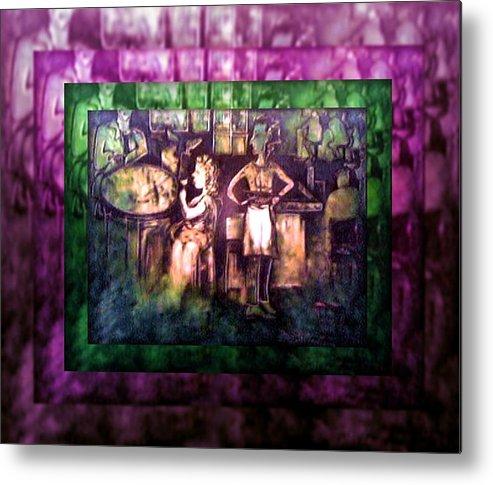 Joan Kamaru Metal Print featuring the painting Order Here by Joan Kamaru