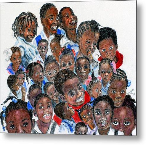 Children Metal Print featuring the painting Save The Children by Quwatha Valentine