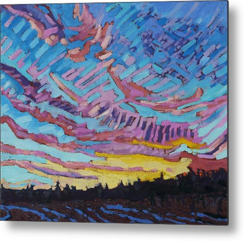 1906 Metal Print featuring the painting Sunrise Freezing Rain Deformation Zone by Phil Chadwick