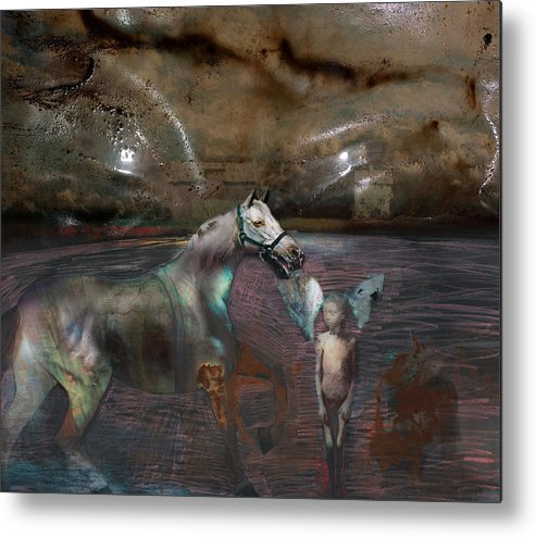 Death Metal Print featuring the digital art An Image Of Death by Henriette Tuer lund