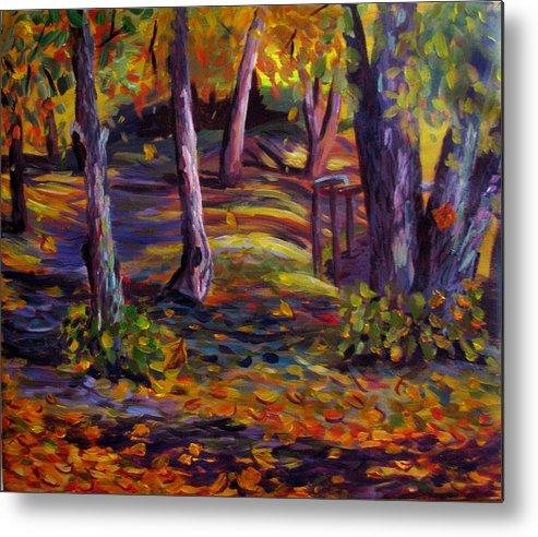 Autumn Metal Print featuring the painting Autumn Glory by Art Nomad Sandra Hansen