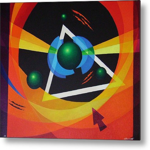 Abstract Metal Print featuring the painting Crossing by Alberto DAssumpcao