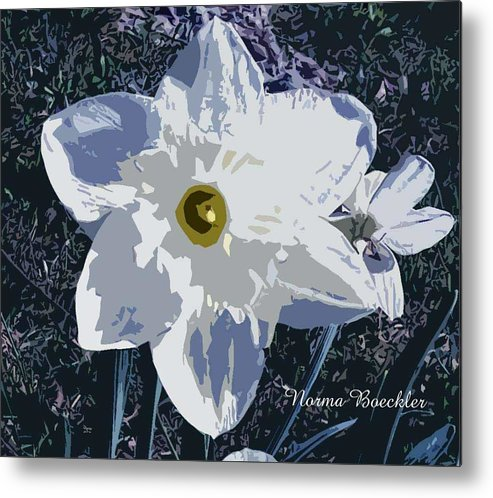Digital Metal Print featuring the photograph Daffodil by Norma Boeckler