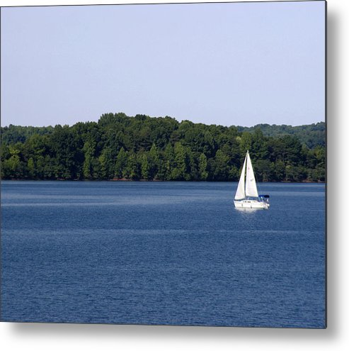 Lake Metal Print featuring the photograph Lazy Sunday by Jean Macaluso