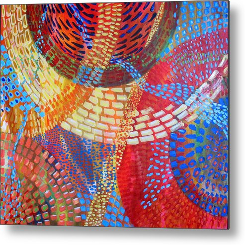 Dots Metal Print featuring the painting Microcosm IIi by Rollin Kocsis