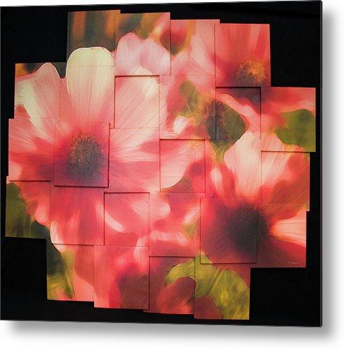 Flower Metal Print featuring the sculpture Nocturnal Pinks Photo Sculpture by Michael Bessler