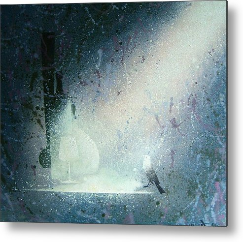 Still Life Metal Print featuring the painting Still Life With Bird by Andrej Vystropov