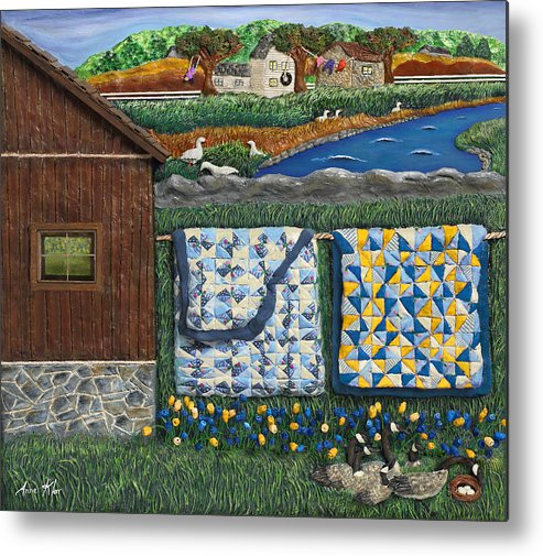 Farm Metal Print featuring the mixed media Before Now by Anne Klar