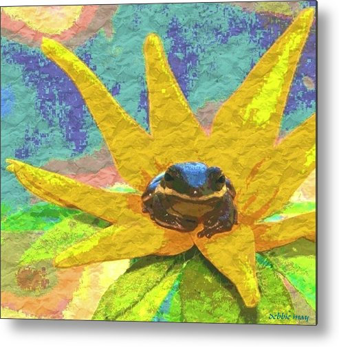 Frog Metal Print featuring the photograph Frog A Lilly 3 - Photosbydm by Debbie May