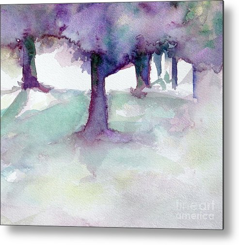Landscape Metal Print featuring the painting Purplescape II by Jan Bennicoff